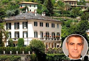 George Clooney pasó casi $us 15 millones por la mansión de 25 habitaciones
