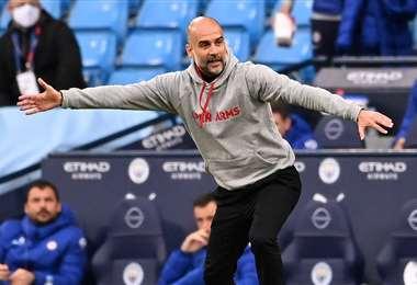 Pep Guardiola, entrenador del Manchester City de Inglaterra. Foto: AFP