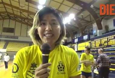 Karla Ticona, boliviana en el Teldeportivo FSF. Video: RP Todo Deportes
