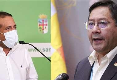 Luis Fernando Camacho y Luis Arce.