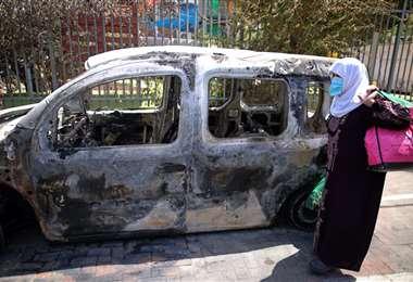 Rastros de enfrentamientos. Foto AFP