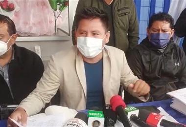 Juan Carlos Montaño denunció este miércoles el supuesto desfalco de dinero de la Alcaldía