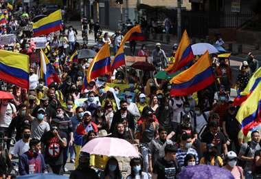 Protesta contra la pobreza y la represión policial en Bogotá