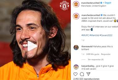 Captura de pantalla del video que público en Instagram el Manchester United
