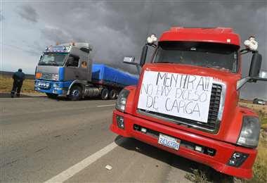 Los puntos de bloqueo en La Paz I APG Noticias.