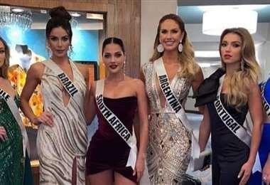 Algunas de las candidatas en una de las actividades sociales en Hollywood, Florida (EEUU)