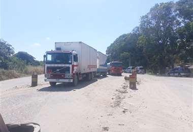 El bloqueo de los transportistas persiste en el municipio de San Carlos