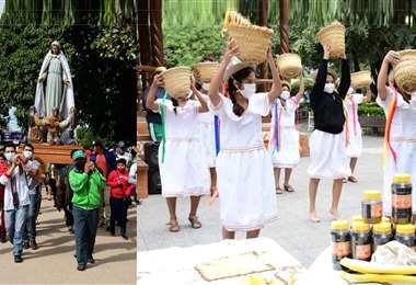 Celebración en Pailón, los devotos celebraron a la Virgen de Fátima. Foto: Hubert Vaca