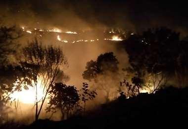 Un incendio se registró la noche del miércoles en el municipio de Porongo