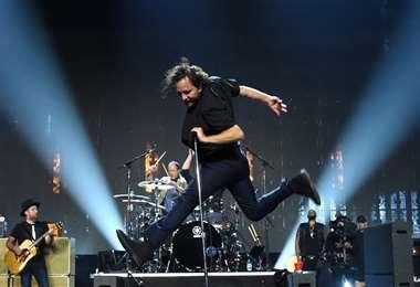 Pearl Jam en uno de sus conciertos