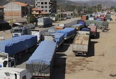 En Cochabamba siguen las medidas de presión (Foto: APG)