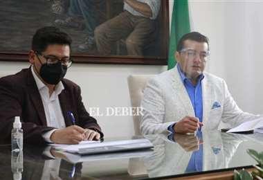 La reunión se concretó en la capital cruceña. Foto: Juan C. Torrejón