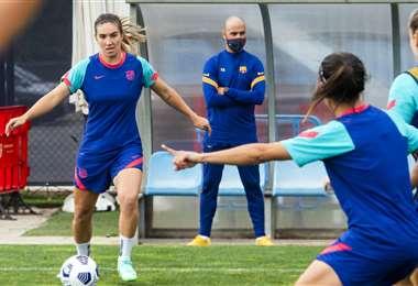 Una de los entrenamientos de Barcelona. Foto: Club Barcelona