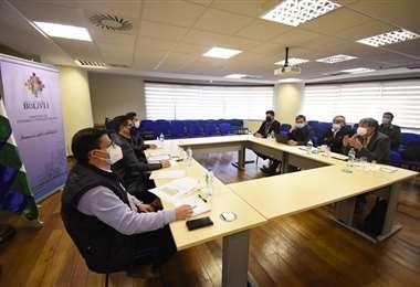 La reunión entre Arias y Montenegro I AMN.