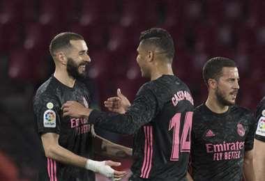 Karim Benzema marcó el último gol y lleva 22 en esta temporada. Foto: AFP
