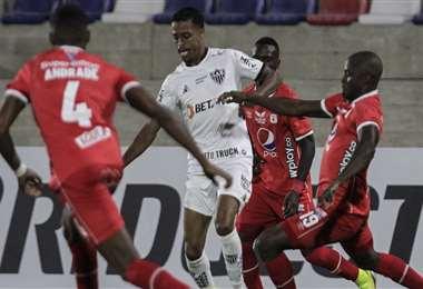 Imagen del partido entre América Cali y Mineiro. Foto: AFP