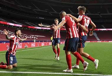 El Atlético de Madrid es líder, con 80 puntos. Foto: AFP