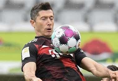 Robert Lewandowski, goleador histórico de la Bundesliga. Foto: AFP