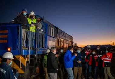 Momentos de alegría con la reactivación del tramo Arica-La Paz
