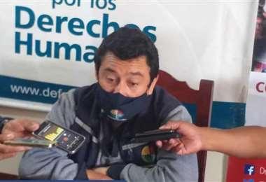 Wálter Portillo, coordinador de la Defensoría del Pueblo. Foto. Franco Centellas