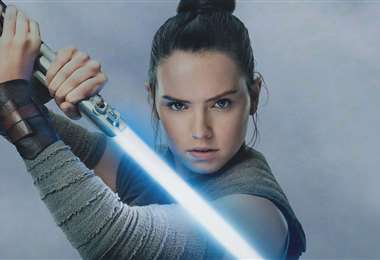 Imagen de Daisy Ridley  como Rey en la saga de Star Wars