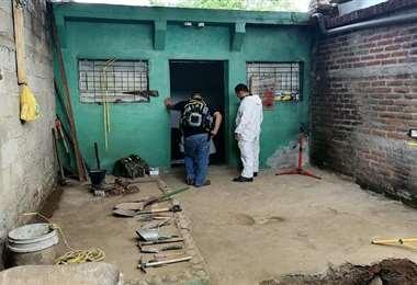 Tras ser aprehendido, los policías hallaron los restos en la vivienda