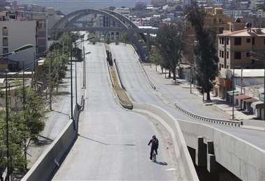 Foto APG: este domingo se vive una jornada de cuarentena en Cochabamba