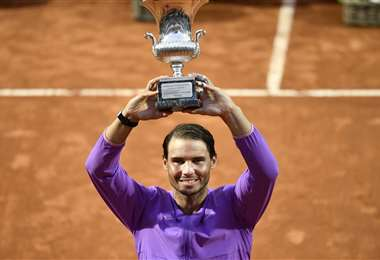 Rafael Nadal eleva a 36 los títulos que tiene en los Masters 1000. Foto: AFP