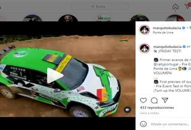Captura de pantalla de uno de los videos que publicó Bulacia en sus redes sociales