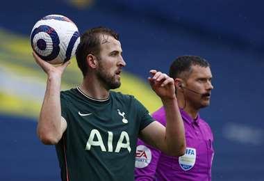 Harry Kane, delantero del  Tottenham de Inglaterra. Foto: AFP