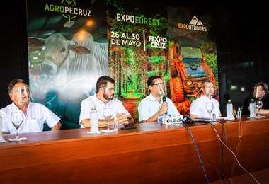 Este martes se realizó el lanzamiento oficial de las tres ferias. Foto: Fexpocruz