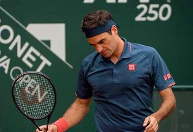 La decepción de Roger Federer tras caer frente a Andújar. Foto: AFP