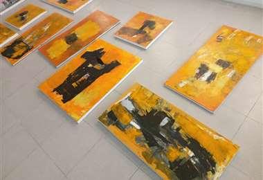 Algunas de las obras que forman parte de la nueva propuesta de la artista cruceña