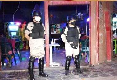 Guardias municipales participaron del operativo