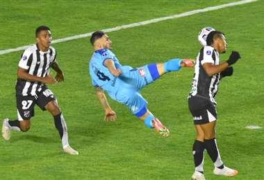 En el partido de ida, en La Paz, Bolívar y Ceará empataron sin goles. Foto: Internet