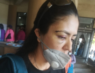 Gabriela Céspedes denunció el domingo a su pareja y reclama la ineficiencia policial