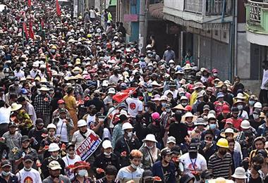 Birmania protestas