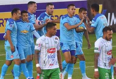 La celebración del gol de Ramos. Foto: APG