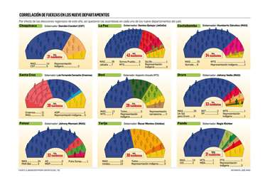 El MAS domina en las asambleas legislativas con el voto provincial