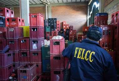 Foto ABI: la Policía decomisó más de 2 mil cajas de cervezas