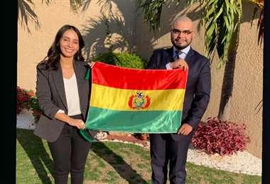 Rafaela Mondacca y Mirko Olmos, de la carrera de Derecho