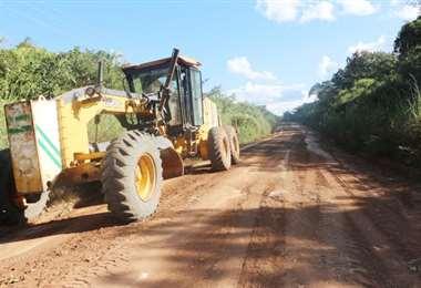 Mejorar la red caminera departamental es uno de los objetivos