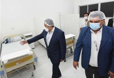 60 camas fueron habilitadas para atender a los enfermos de coronavirus en el hospital.