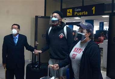 Joshua Alexander Reaves llegó este miércoles a La Paz. Foto: Marka Registrada
