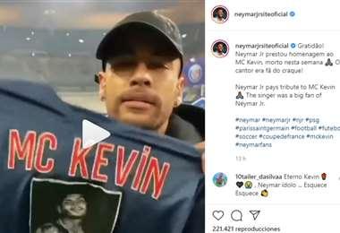 Captura de pantalla del video que publicó Neymar en sus redes sociales