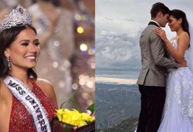 Andrea Meza está en el ojo de la polémica por una foto en la que sale vestida de novia