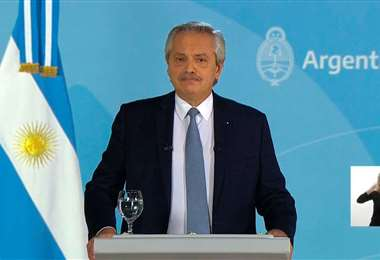El presidente argentino Alberto Fernández