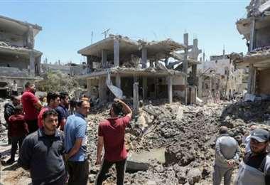 El choque se saldó con la muerte de 243 palestinos