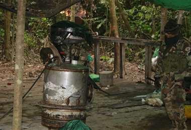 Fábrica de cocaína descubierta en la comunidad Santa Teresita I Juan Carlos Torrejón.