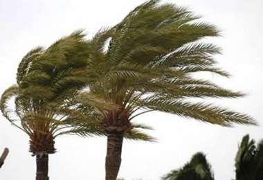 Los vientos alcanzaron los 90 kilómetros por hora